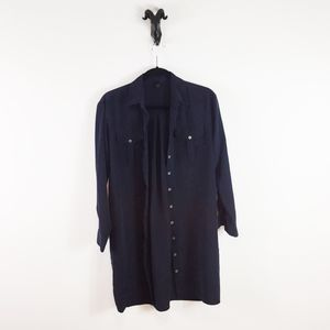 Topshop Oversized Button Down Top